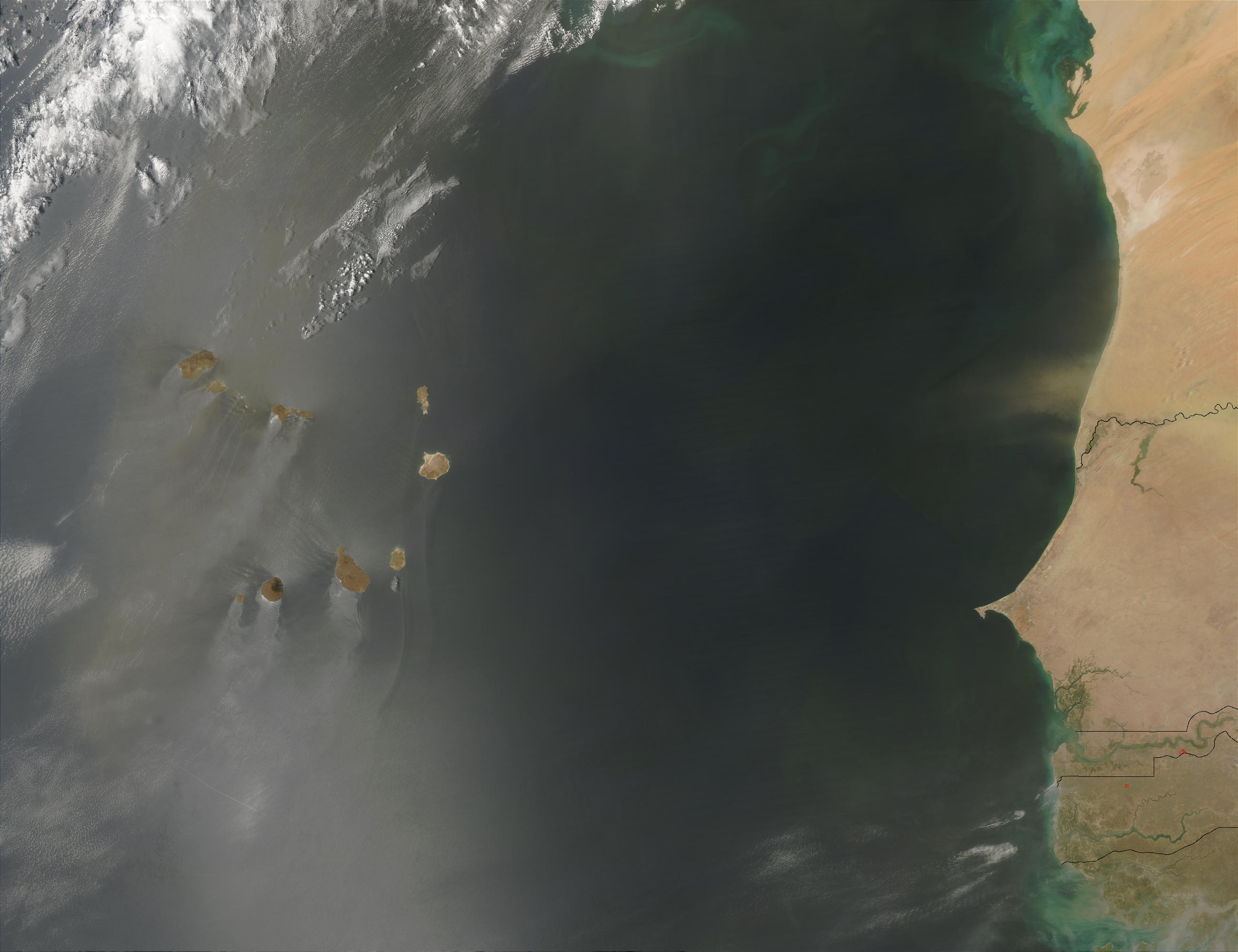 Saharan Dust over the Cape Verde Islands - related image preview