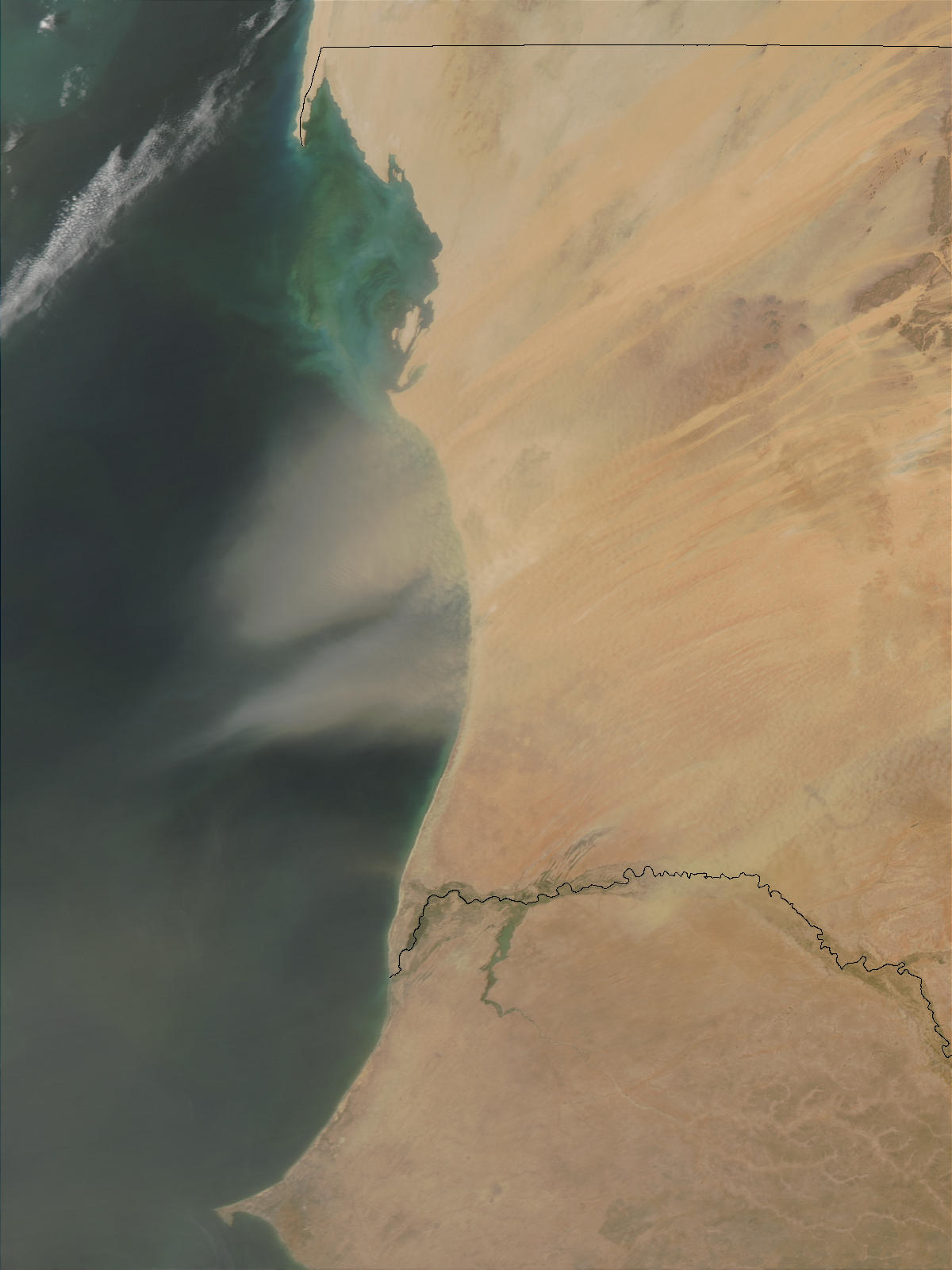 Dust Storm over Mauritania - related image preview