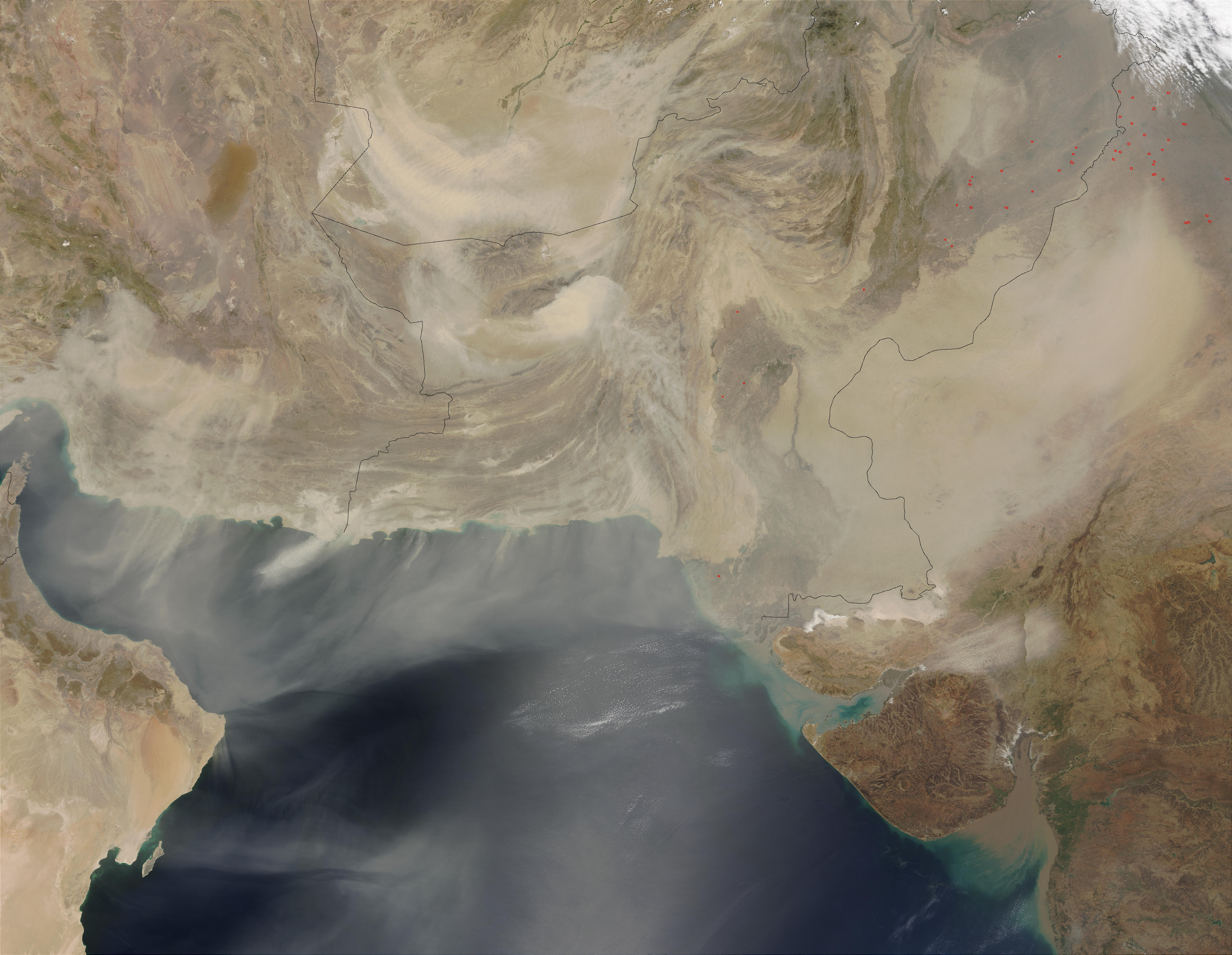 Dust Storms over the Arabian Sea (Terra/Aqua combination) - related image preview