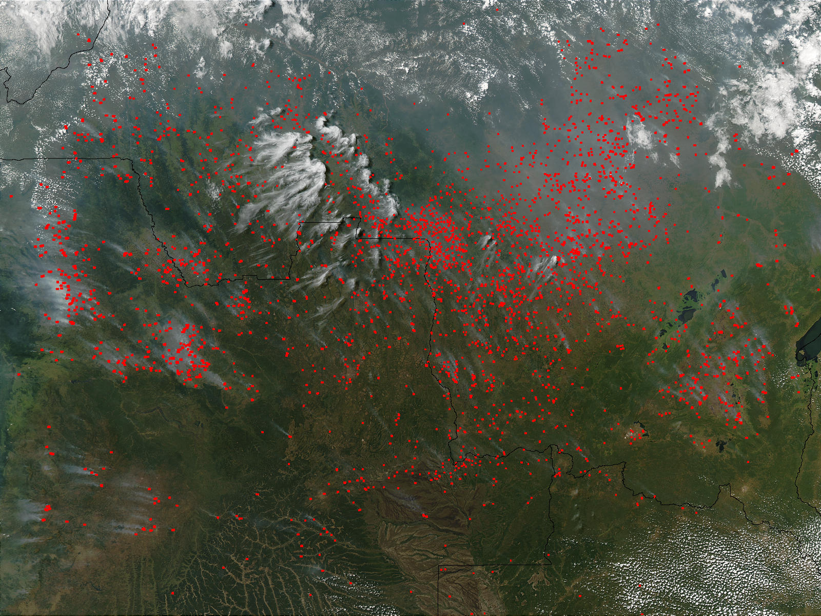 Fires across Angola and the Democratic Republic of the Congo - related image preview