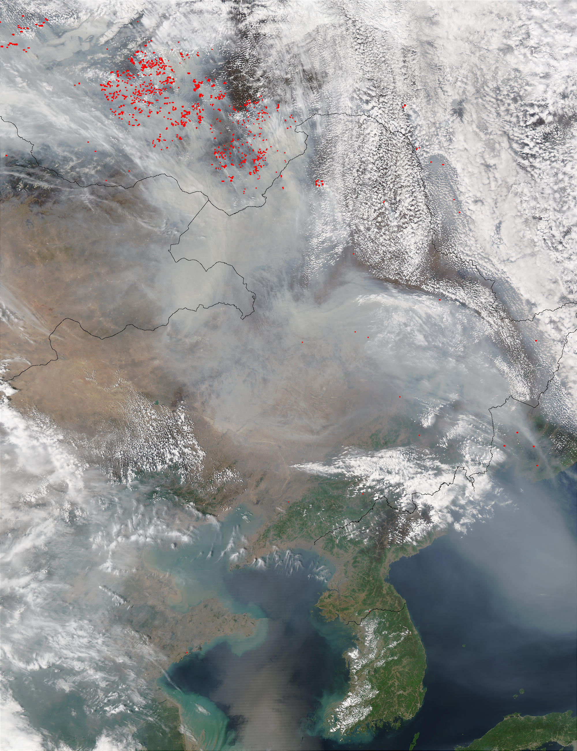 Smoke from Russian fires across Northeast China - related image preview