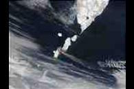 Ash plume from Chikurachki Volcano, Eastern Russia