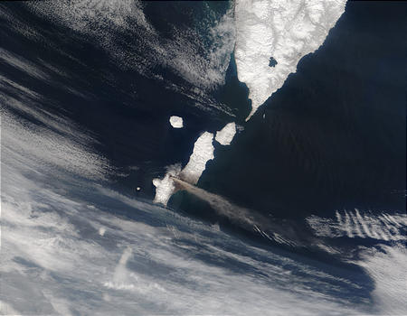Ash plume from Chikurachki Volcano, Eastern Russia - related image preview