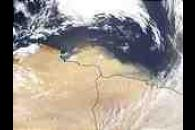Dust storm off Libya and Egypt