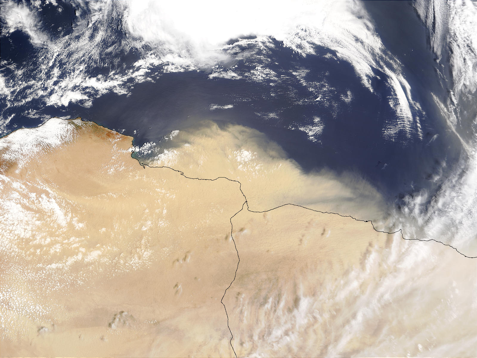 Dust storm off Libya and Egypt - related image preview
