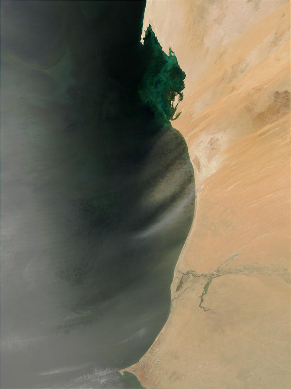 Dust storms off West Africa - related image preview