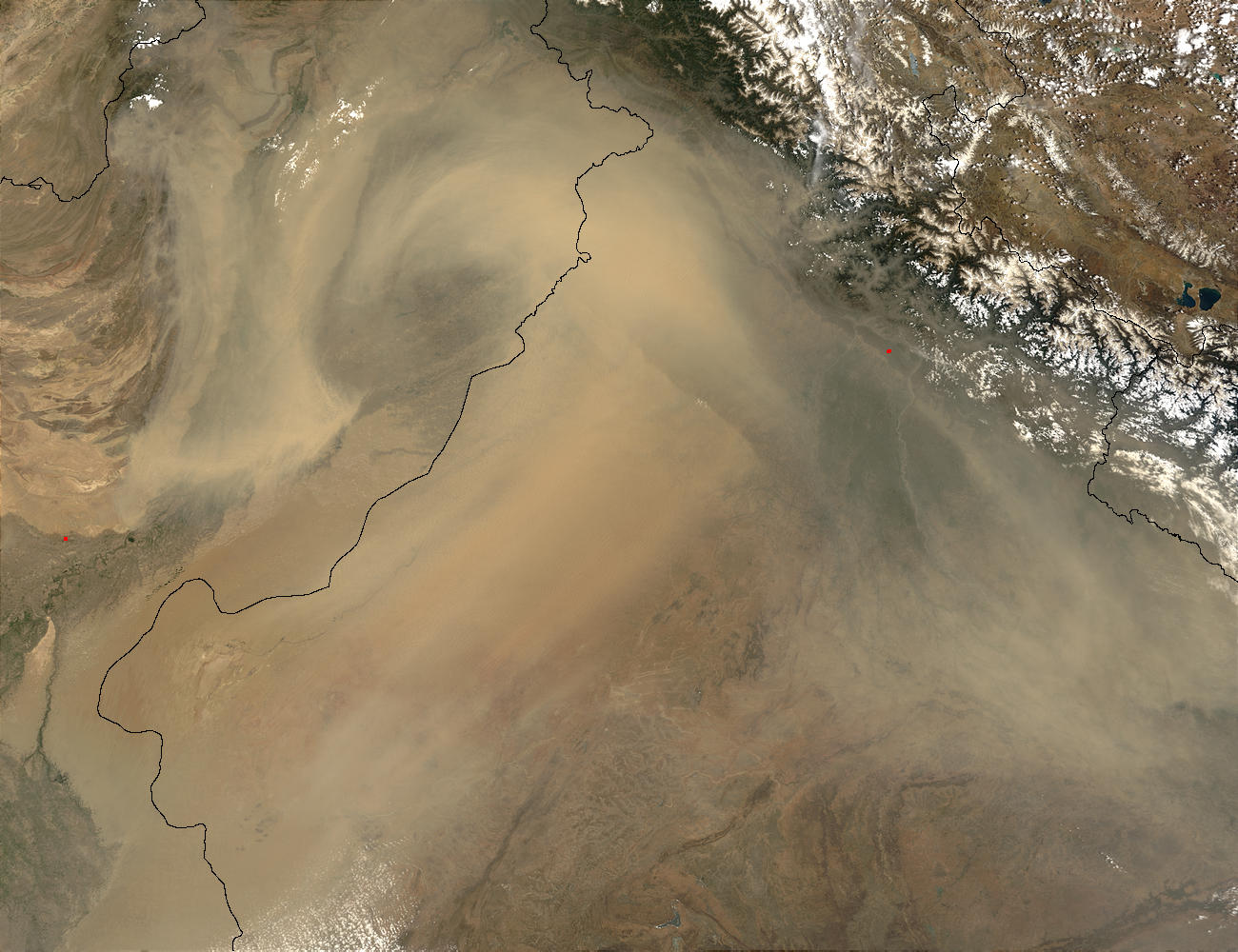 Dust Storms in India and Pakistan - related image preview