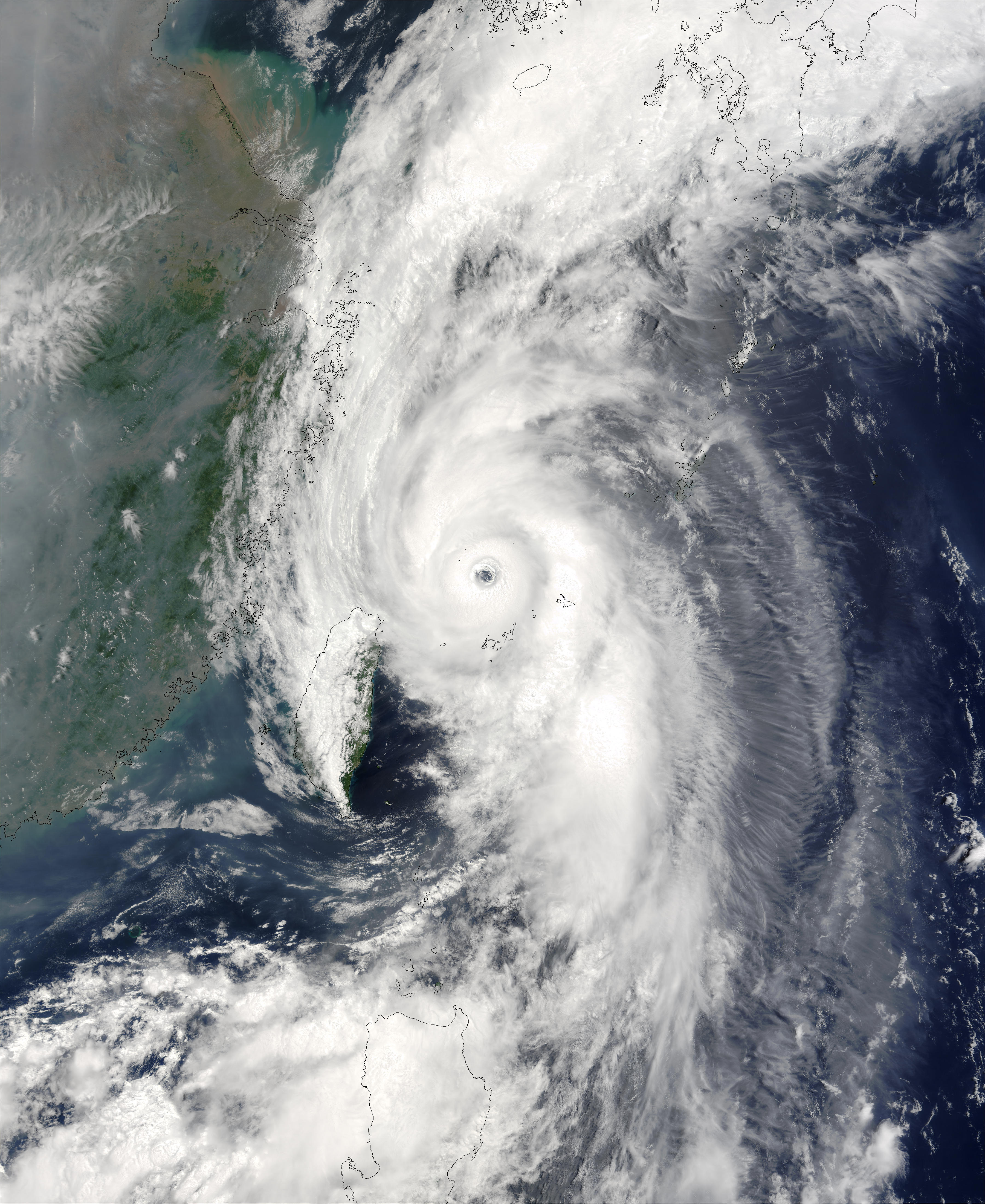 Typhoon Soudelor (07W) northeast of Taiwan - related image preview