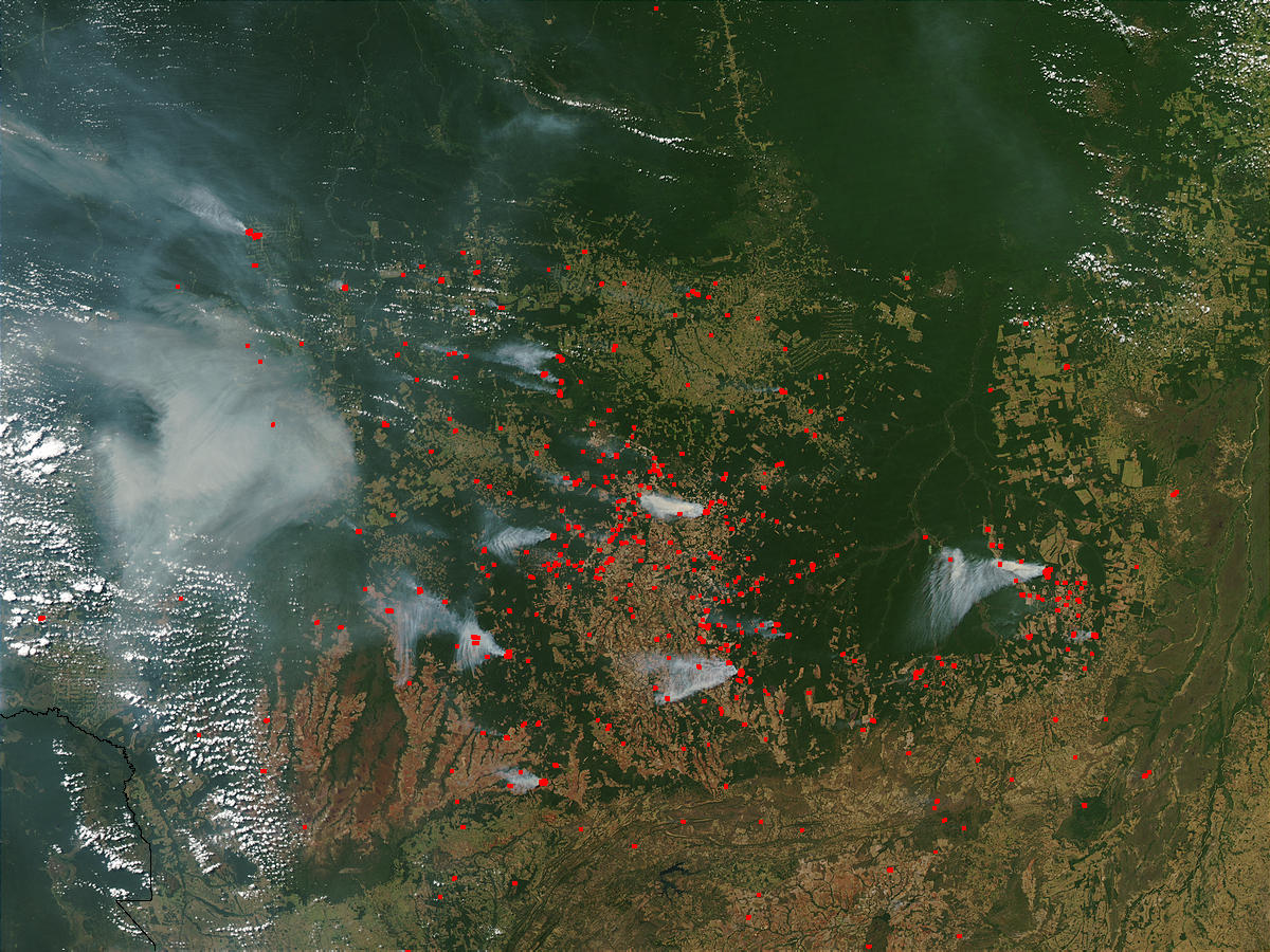 Fires and smoke across Mato Grosso, Brazil - related image preview