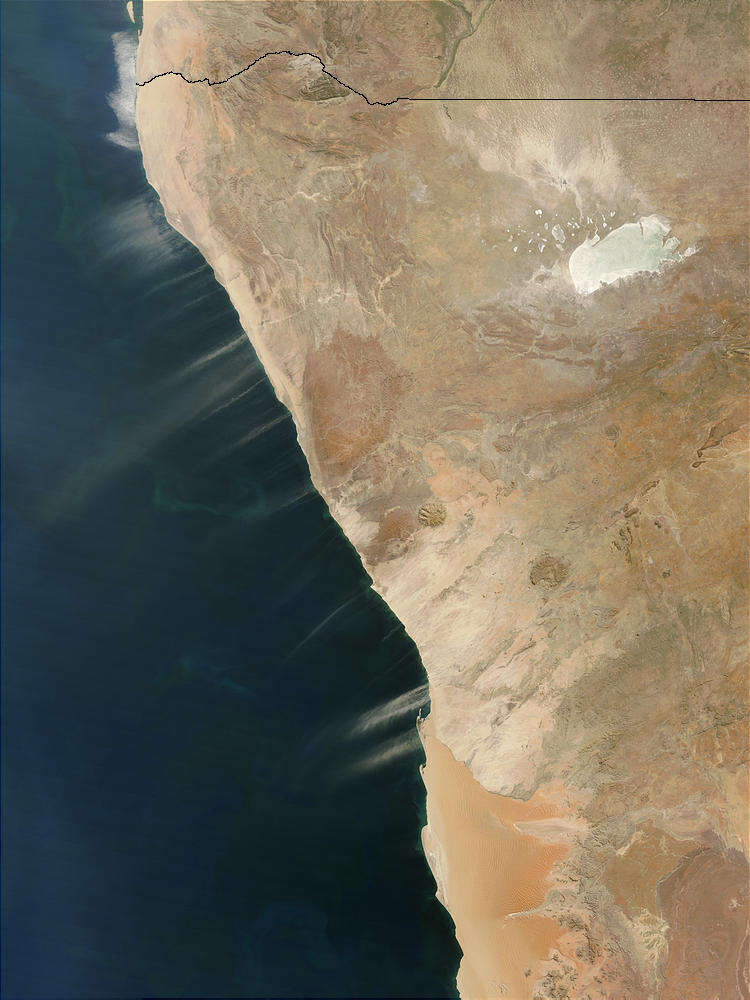 Dust plumes off Namibia - related image preview