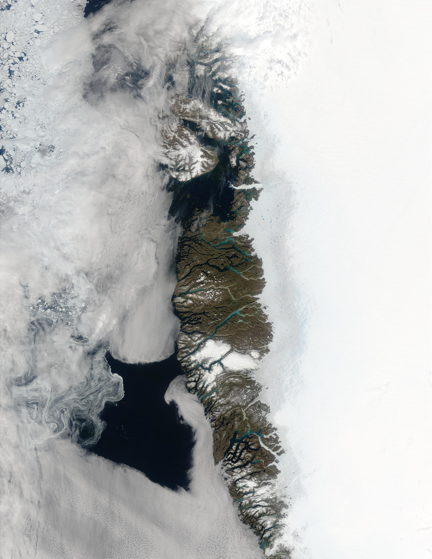 Meltwater ponds along Greenland West Coast - related image preview