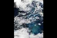 Phytoplankton bloom southeast of Greenland