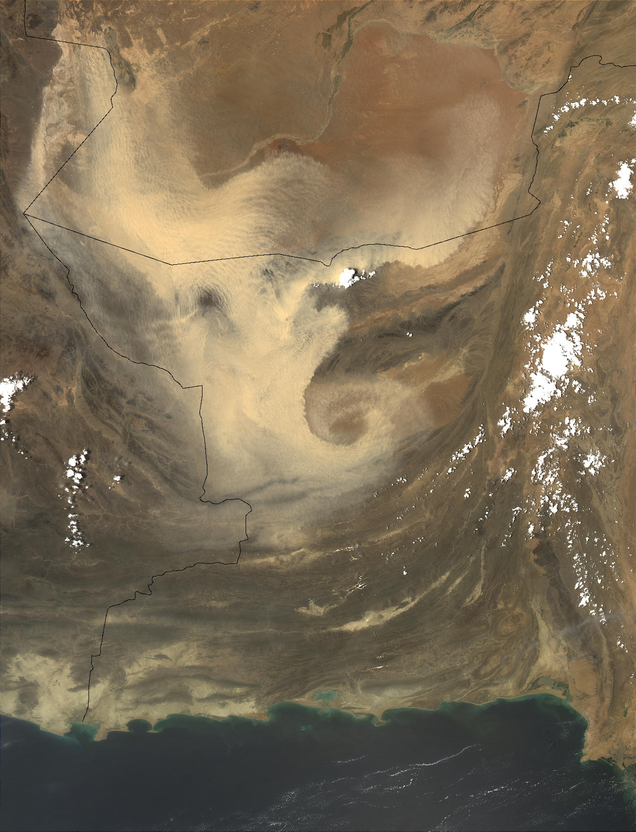 Dust storm in Pakistan and Afghanistan - related image preview