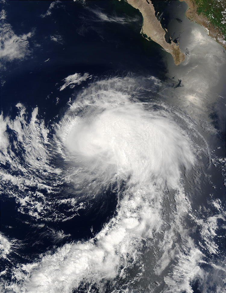 Tropical Storm Enrique south of Baja California, Mexico - related image preview
