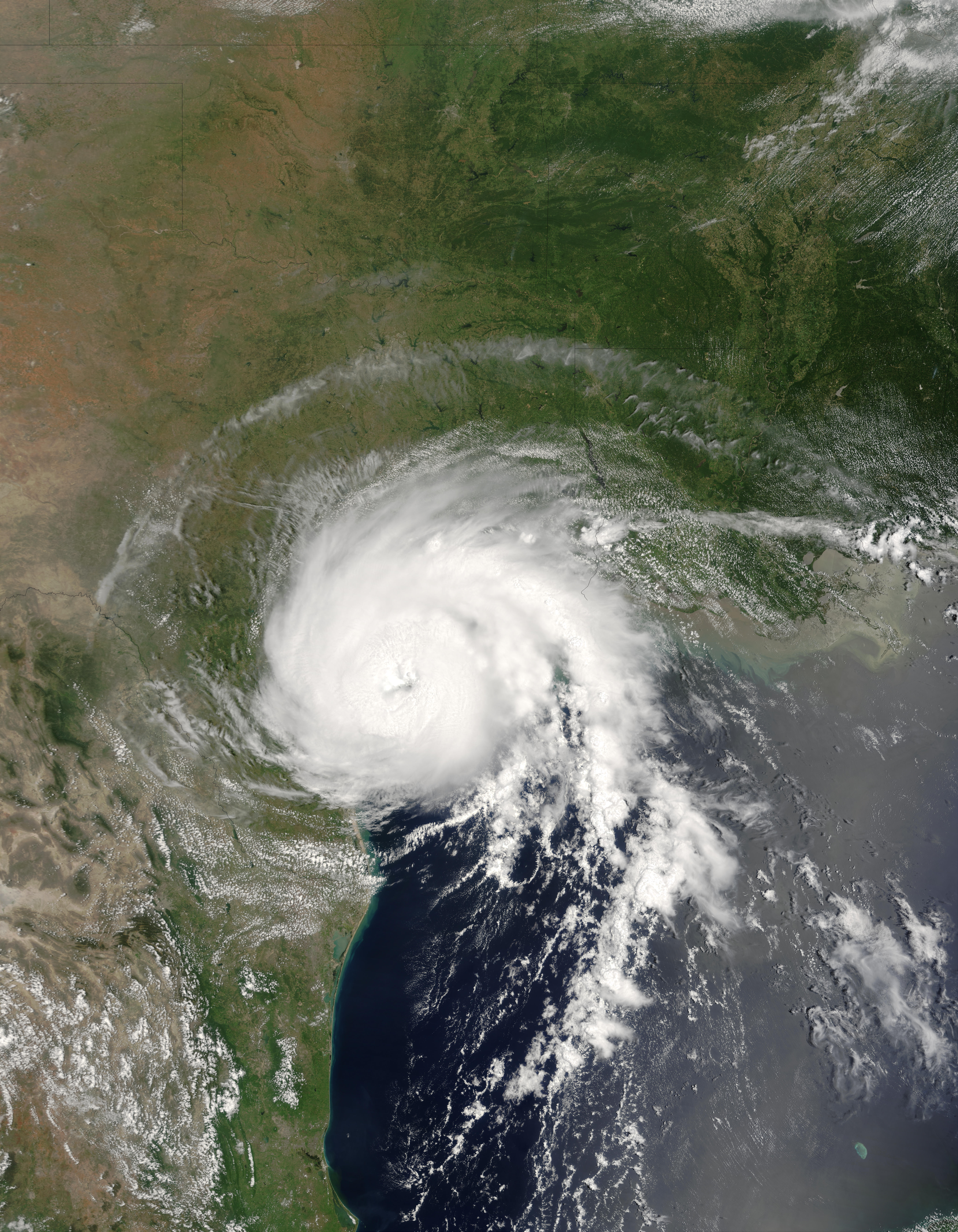 Hurricane Claudette over the coast of Texas - related image preview