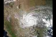 Tropical Storm Claudette over Texas and Mexico