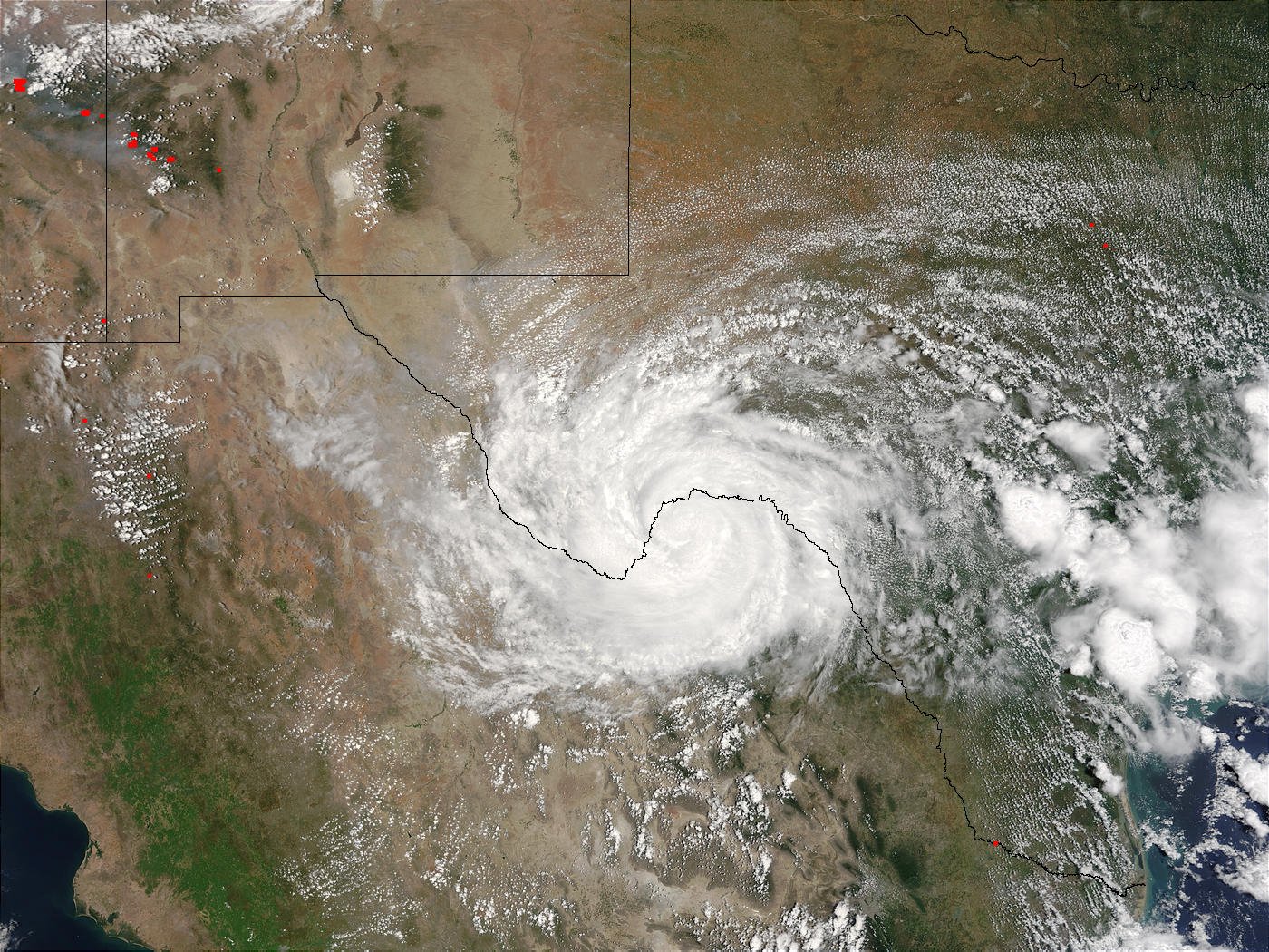 Tropical Storm Claudette over Texas and Mexico - related image preview