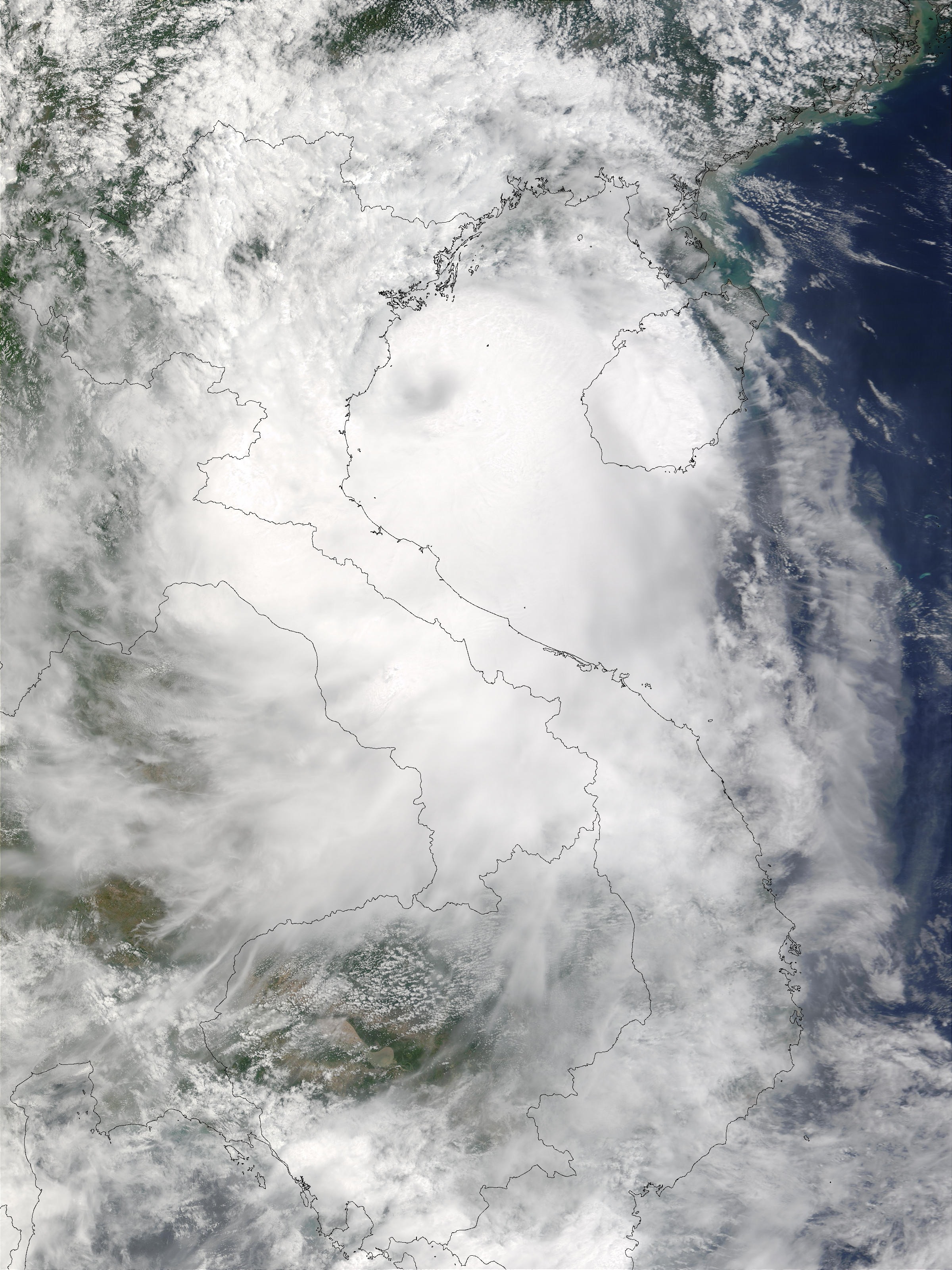Typhoon Koni (08W) over Vietnam - related image preview