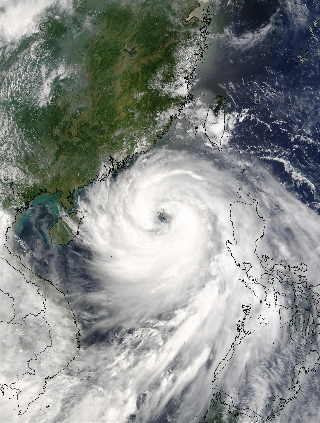 Typhoon Imbudo (09W) over the South China Sea - related image preview