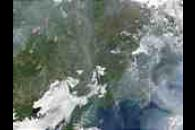 Fires and smoke across Siberia