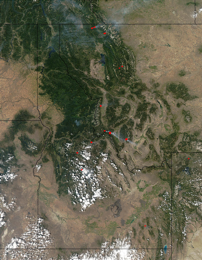 Fires in Idaho and western Montana - related image preview