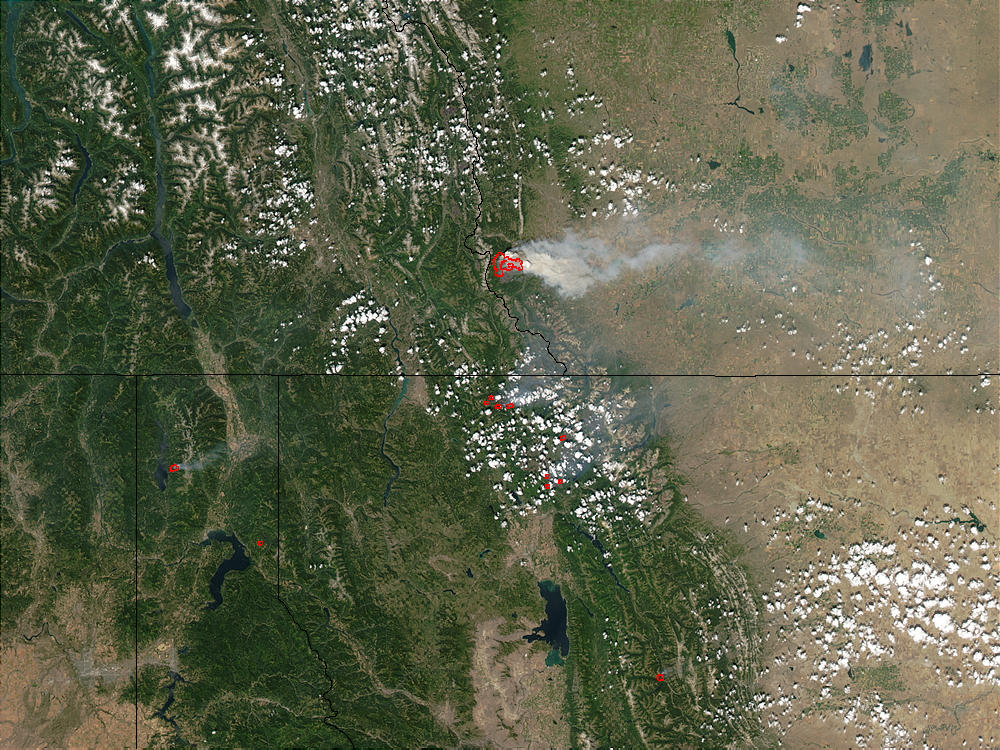 Fires in Glacier National Park, Montana - related image preview