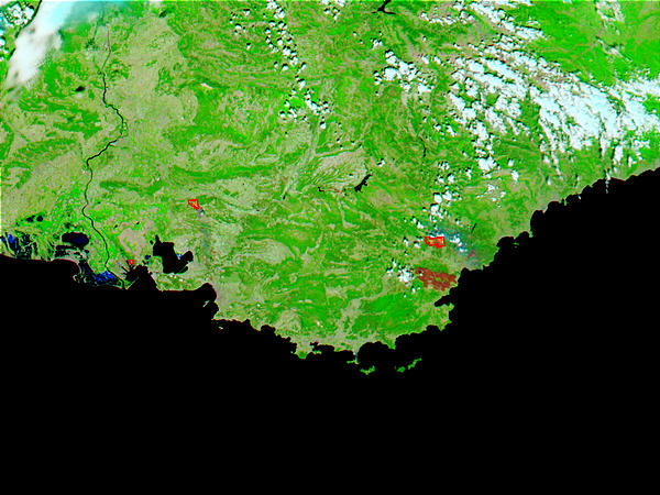 Fires and burn scars in Southeast France - related image preview
