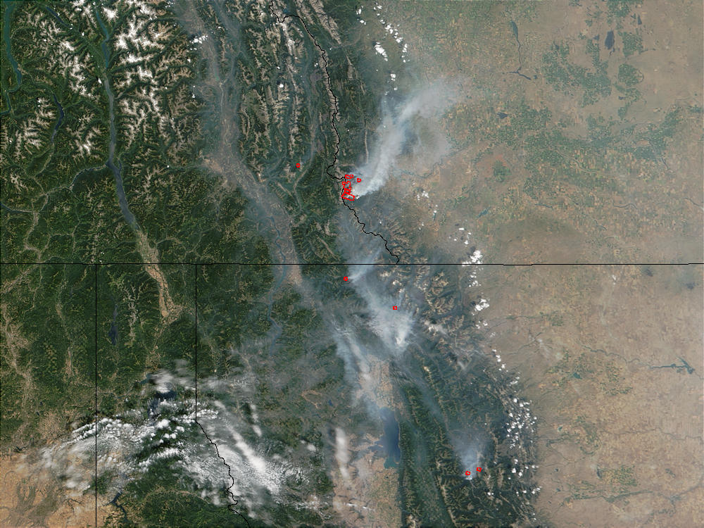 Fires in Montana and Alberta - related image preview