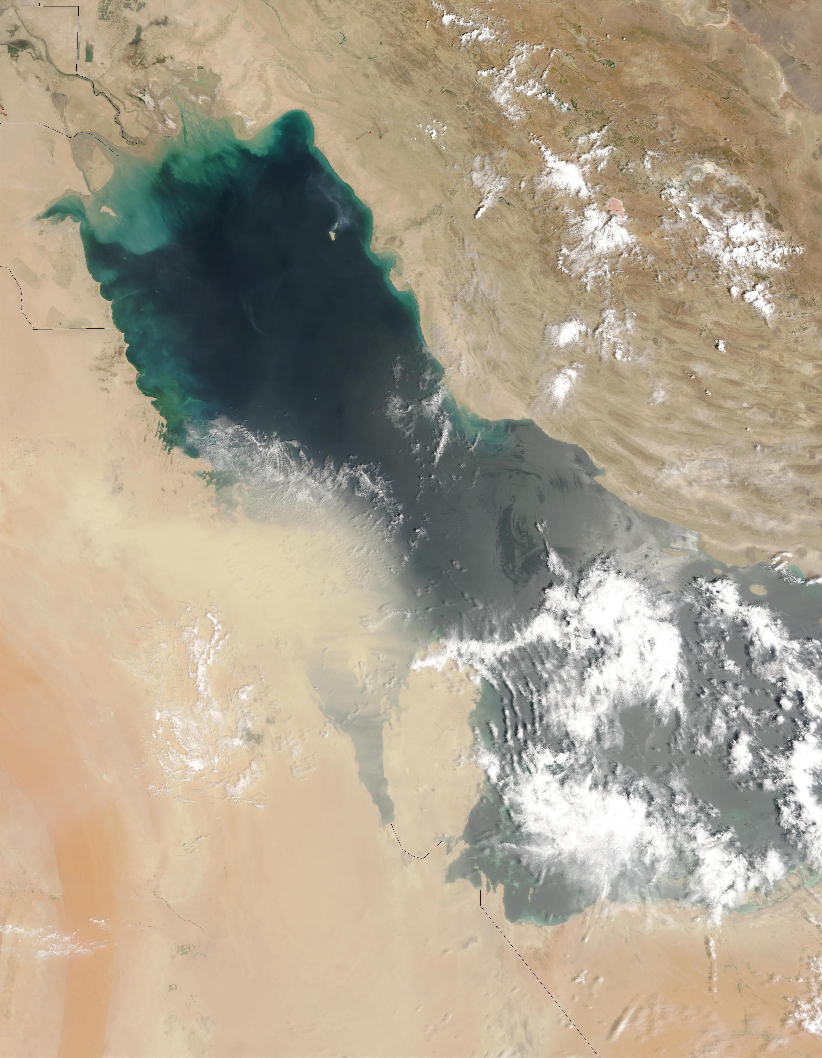 Dust storms over the Persian Gulf - related image preview
