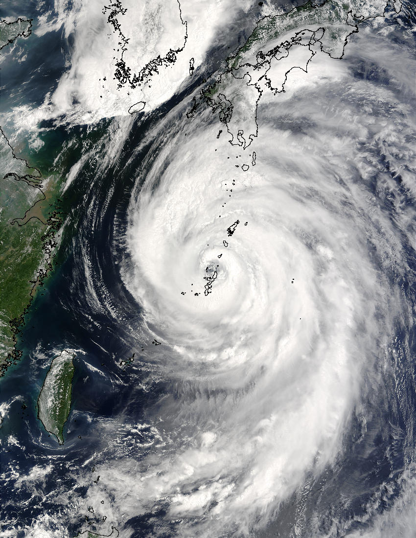 Typhoon Etau (11W) south of Japan - related image preview