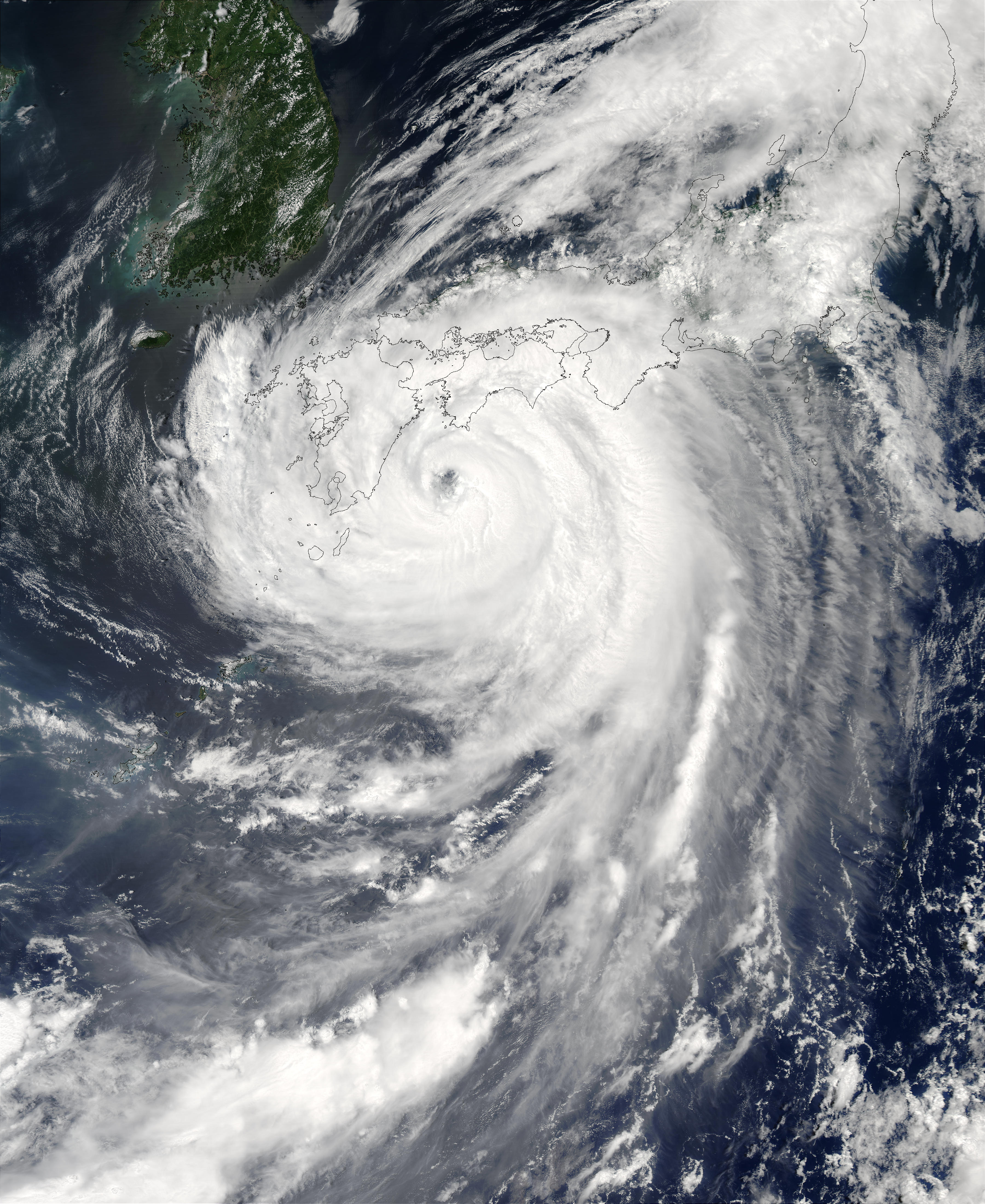Typhoon Etau (11W) over Japan - related image preview