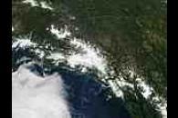 Sediment along the southern coast of Alaska