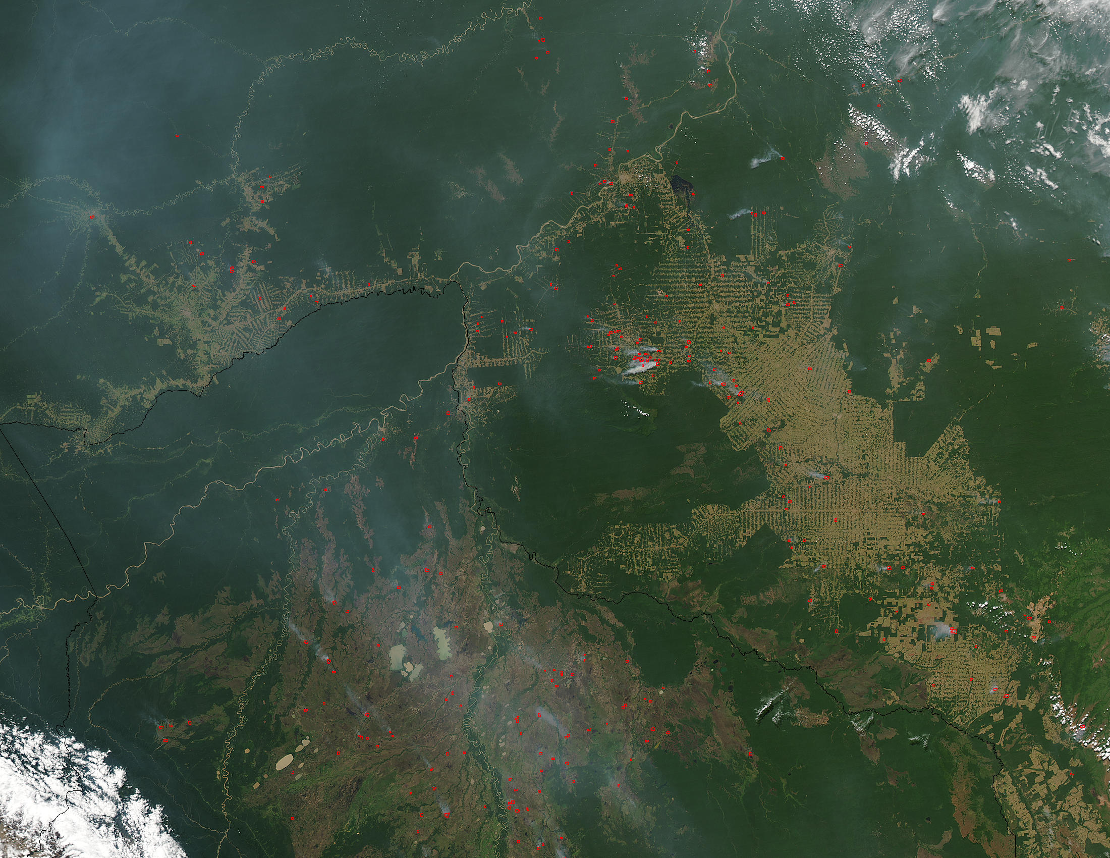 Fires and deforestation in Brazil and Bolivia - related image preview