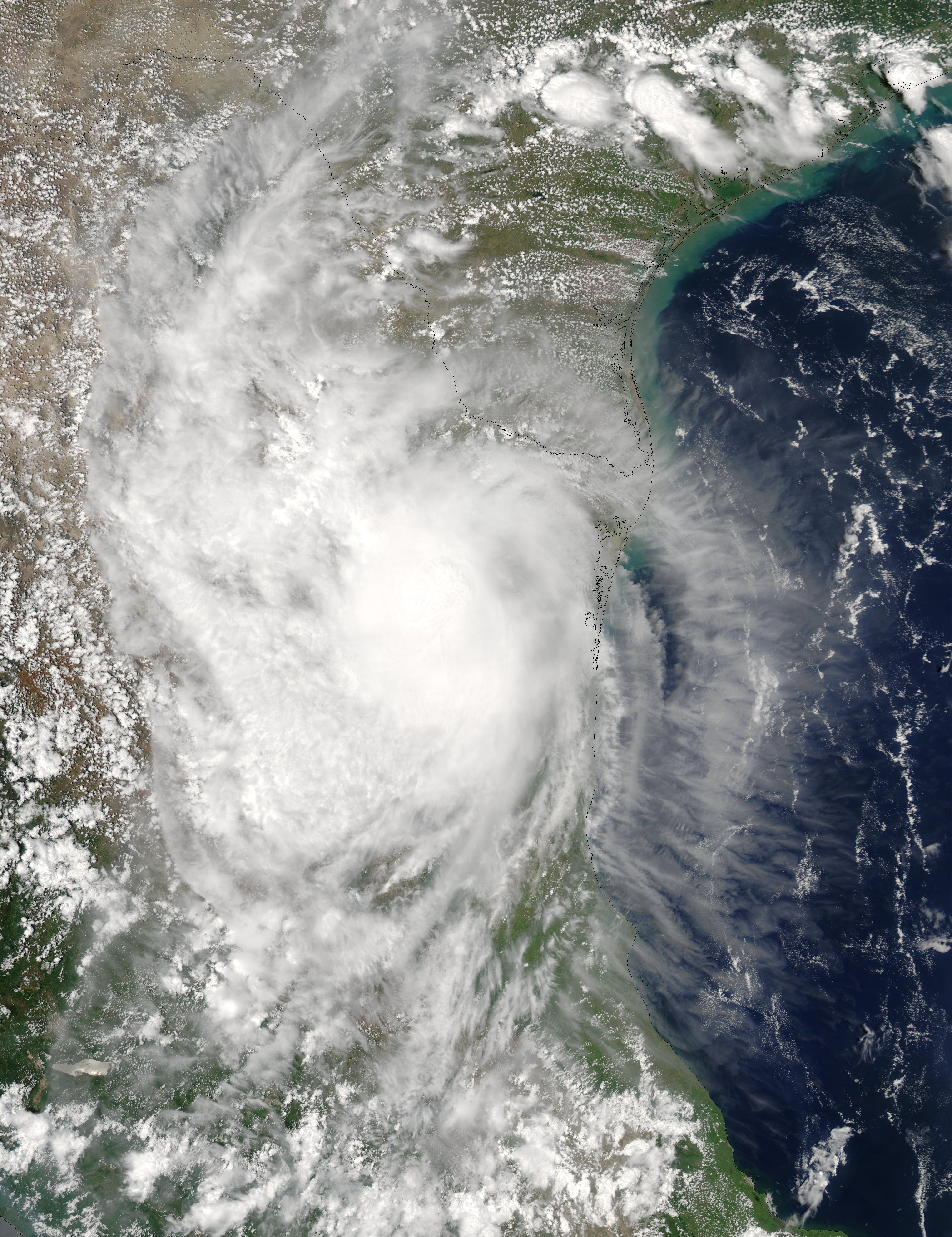 Tropical Storm Erika over Mexico - related image preview