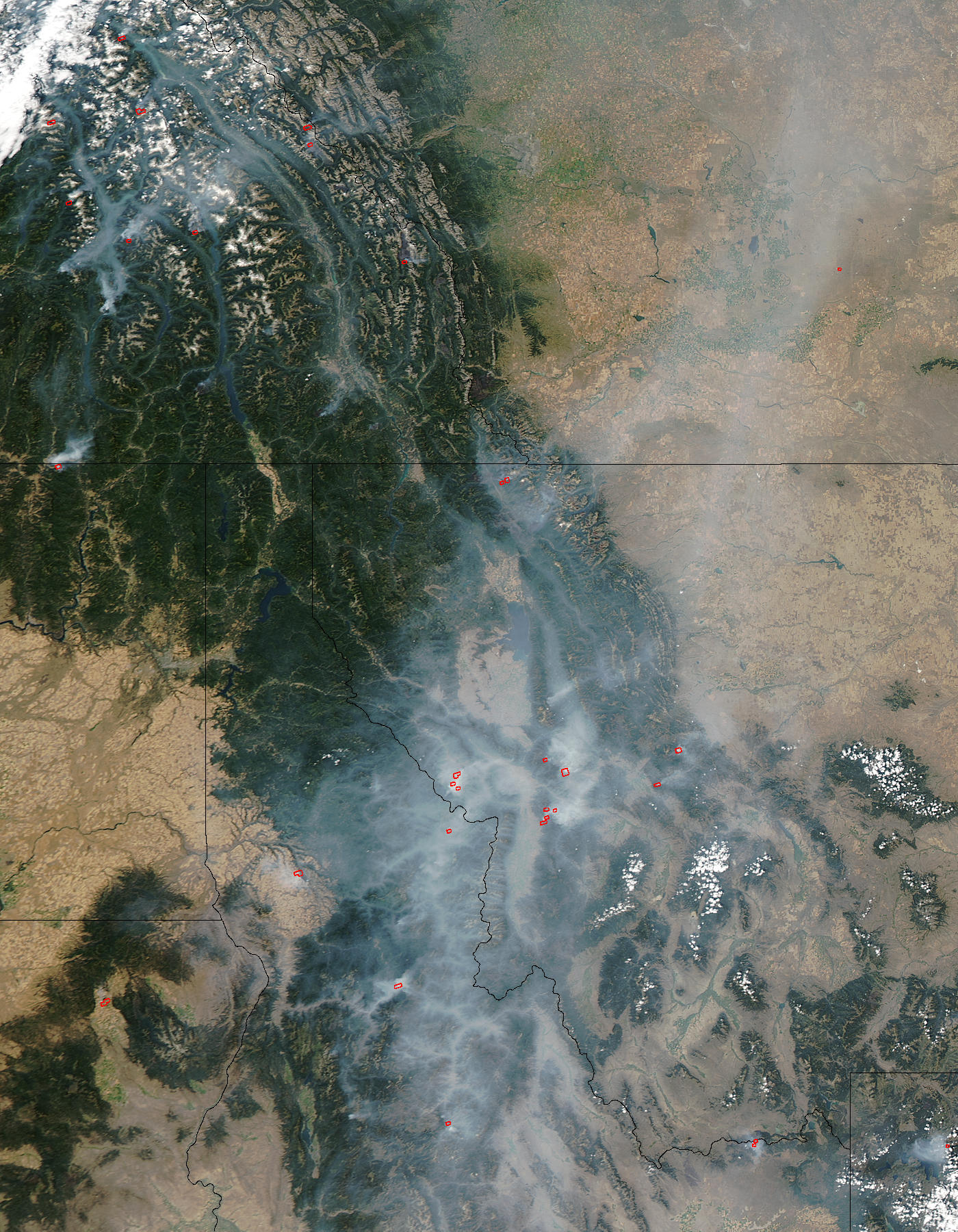 Fires and smoke in Montana, Idaho, and British Columbia - related image preview