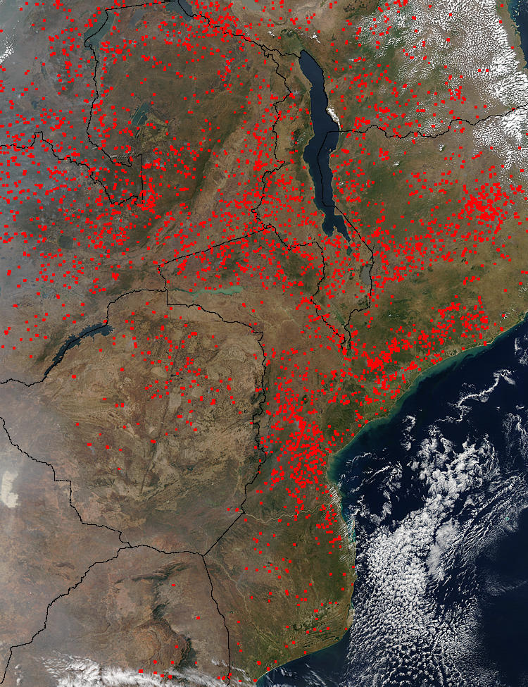 Fires across Southern Africa - related image preview