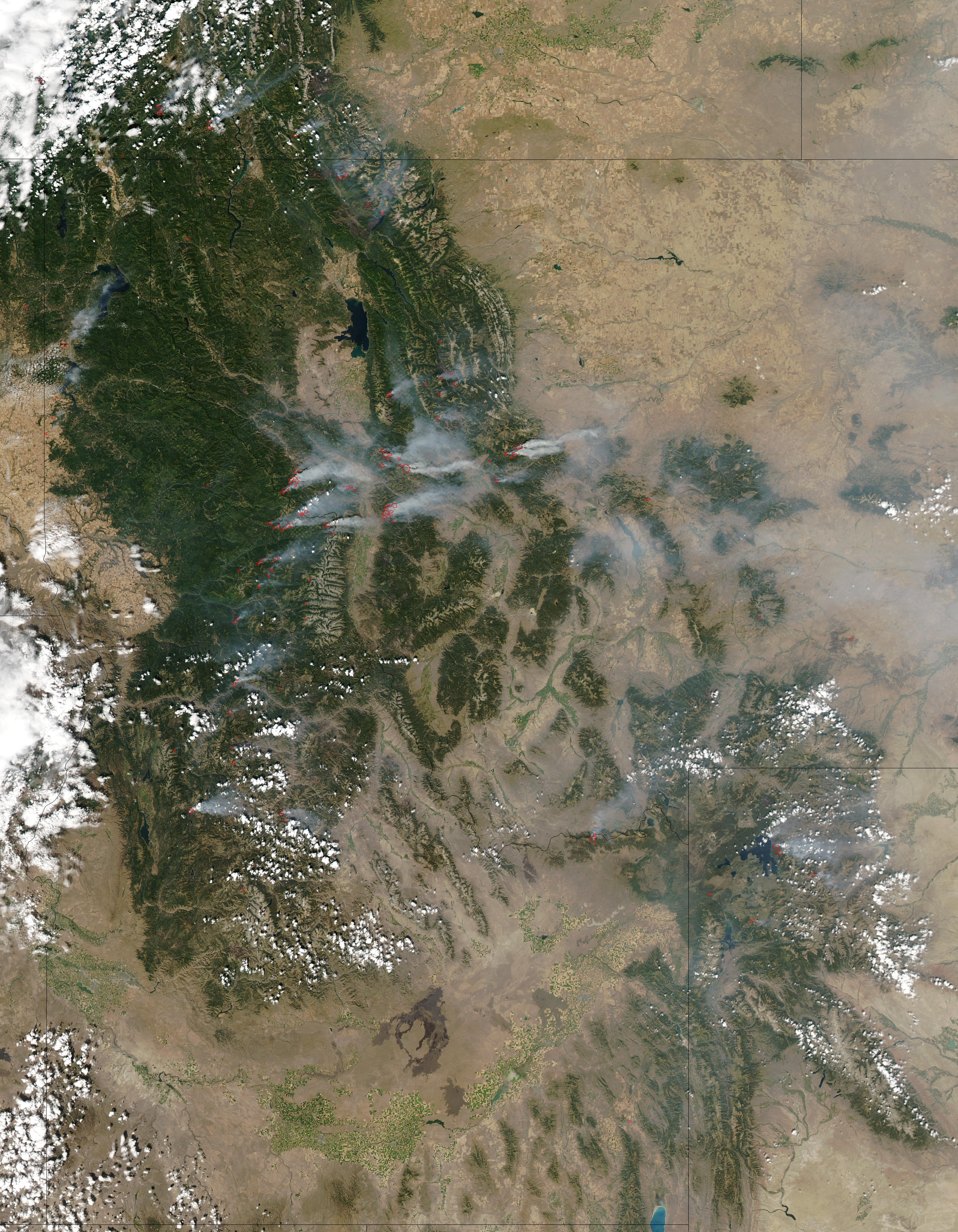 Fires and smoke in Idaho and Montana - related image preview