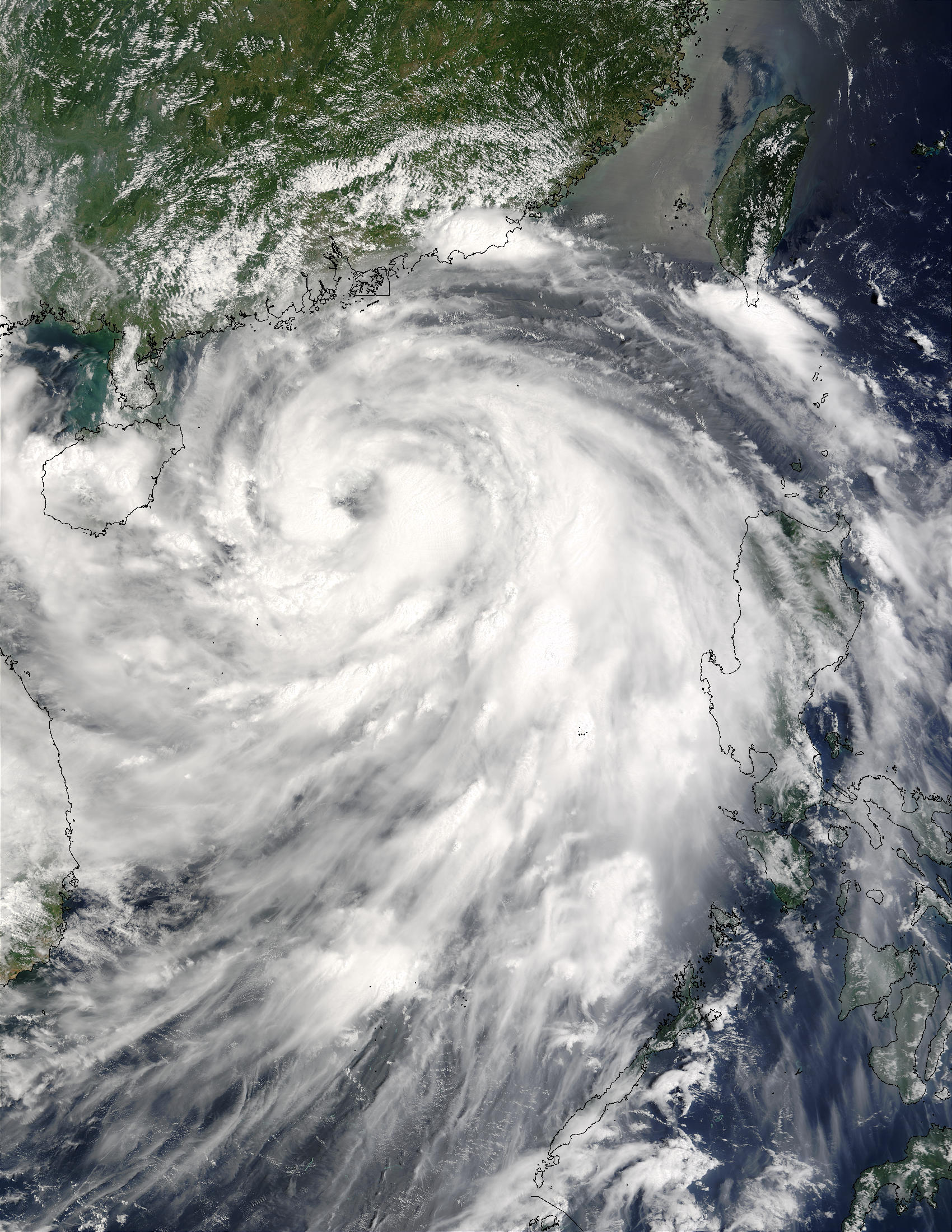 Typhoon Krovanh (12W) approaching China - related image preview
