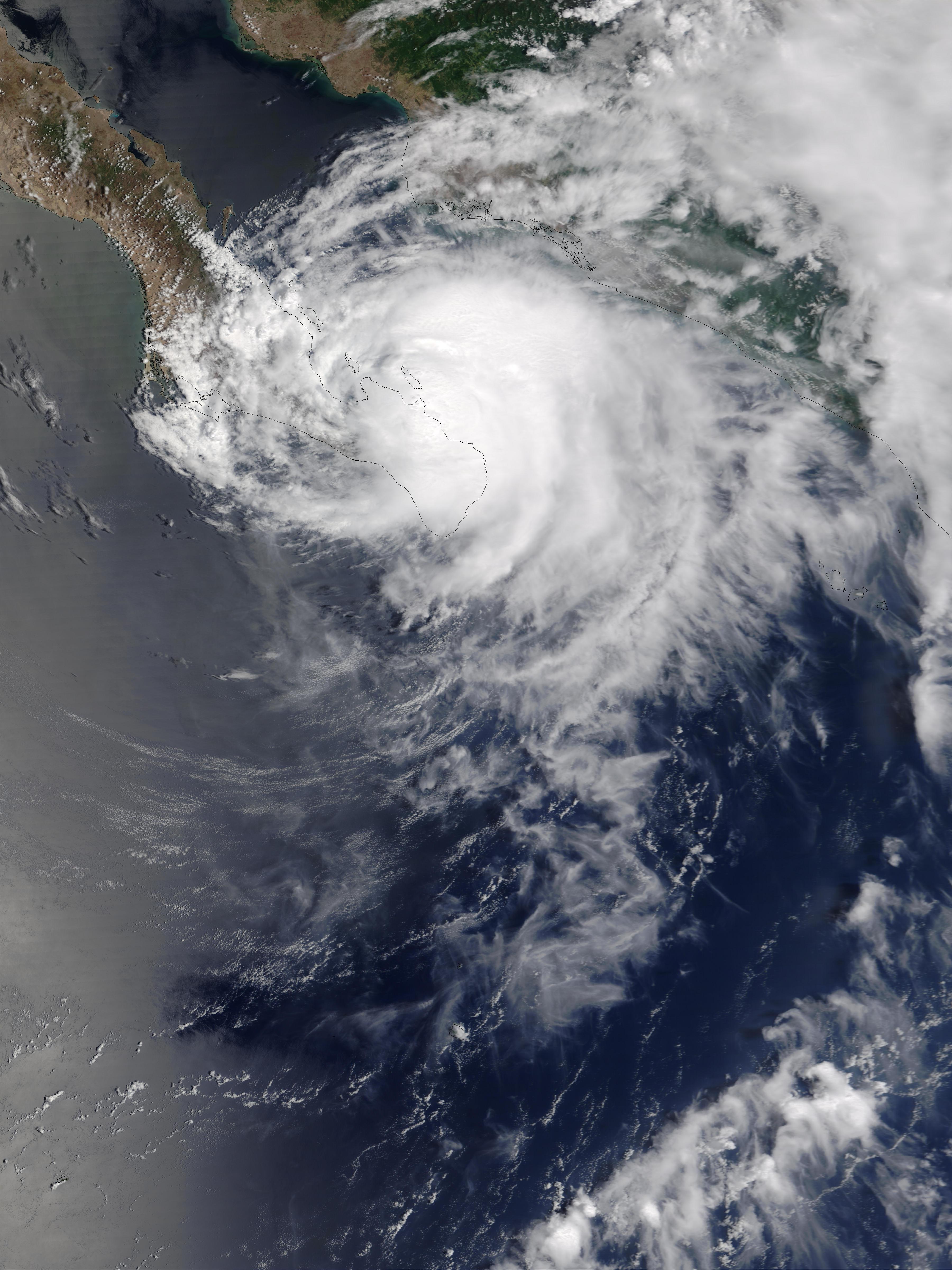 Hurricane Ignacio (09E) over Baja California - related image preview