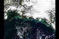Snowmelt sediments along the coast of Alaska
