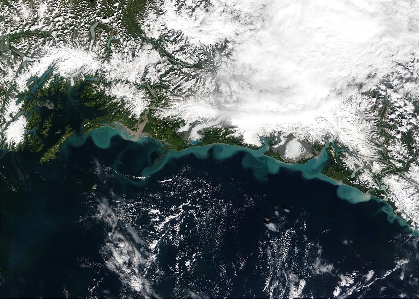 Snowmelt sediments along the coast of Alaska - related image preview