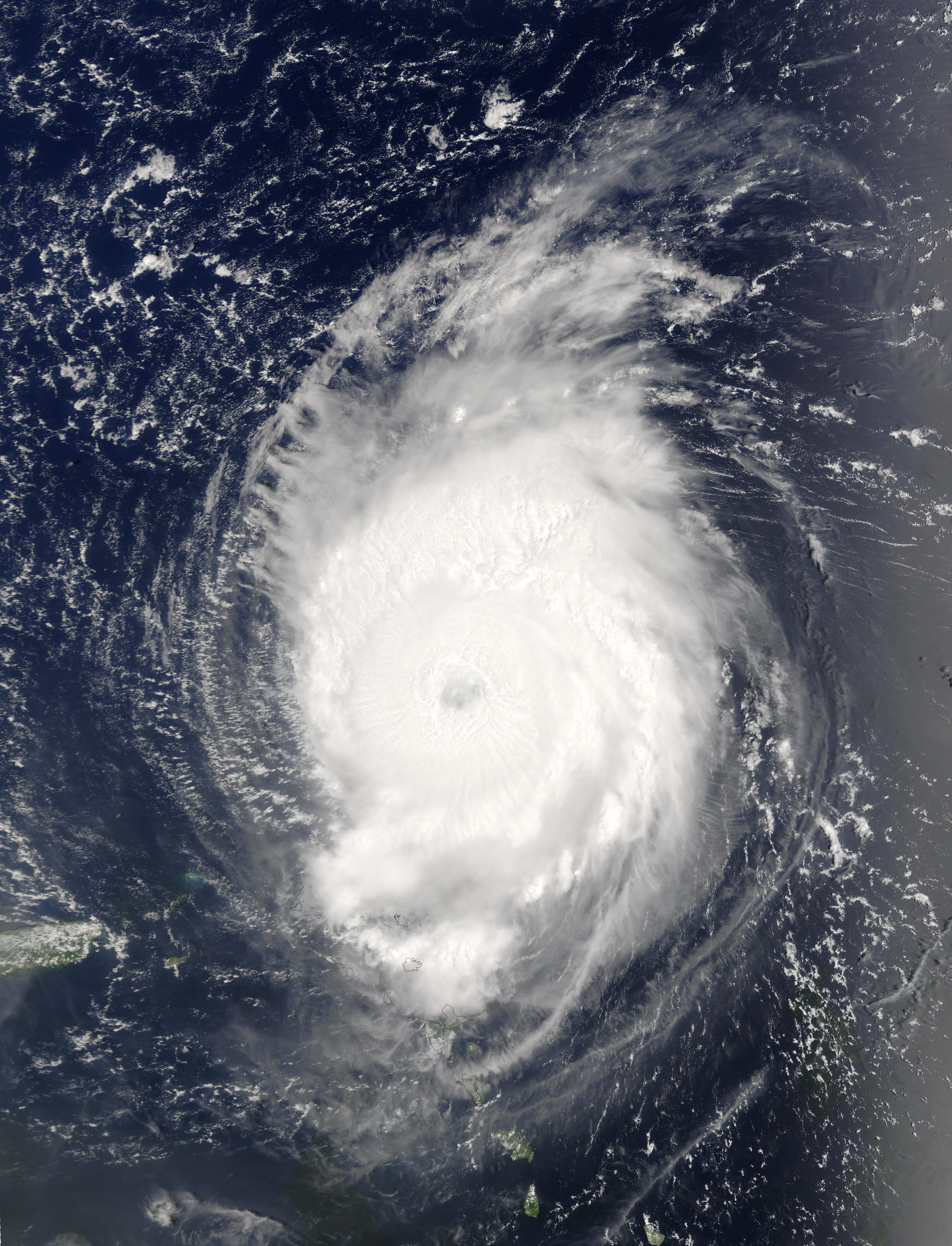 Hurricane Fabian northeast of the Lesser Antilles - related image preview