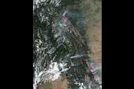 Fires and smoke in Montana and British Columbia