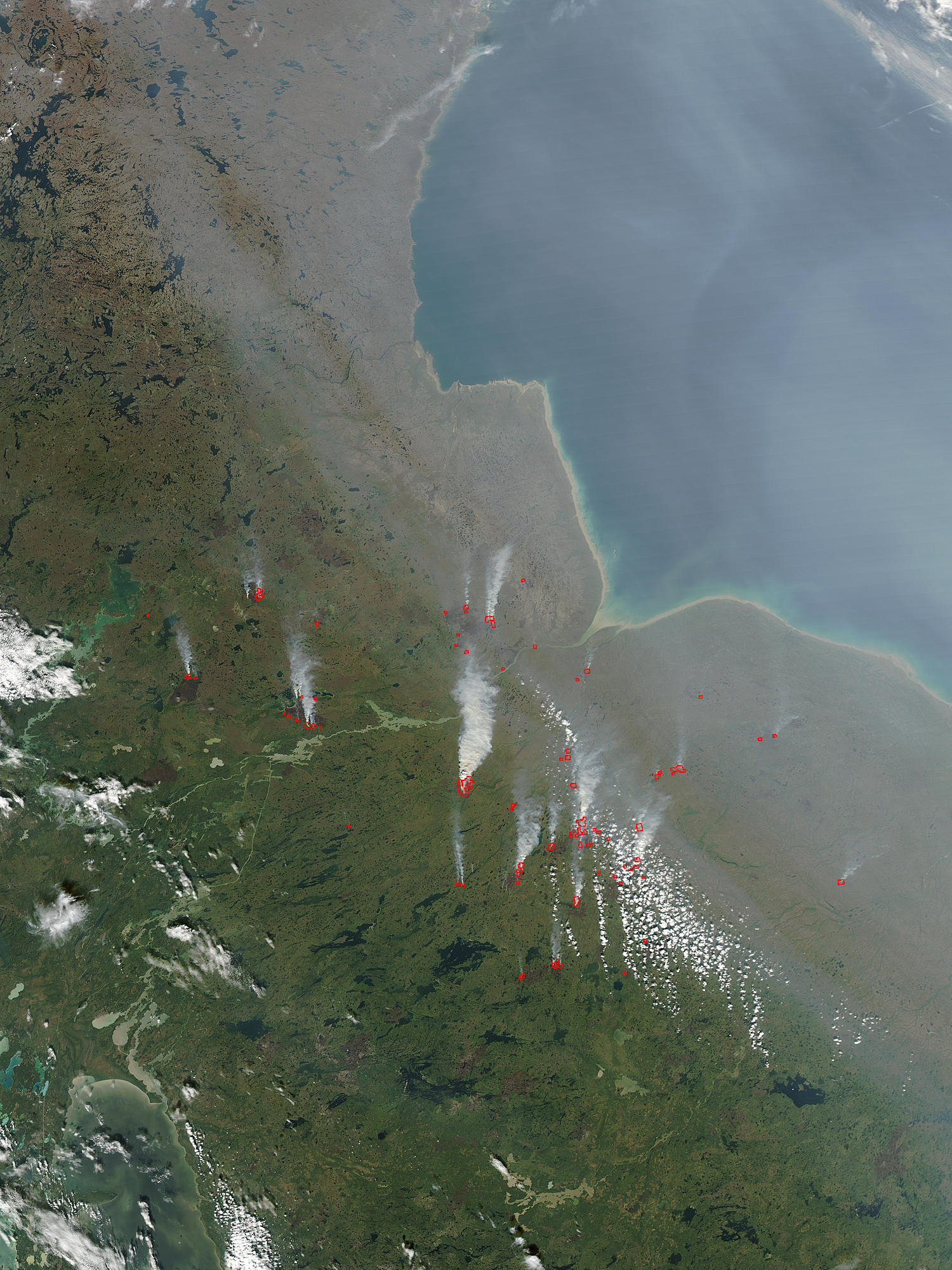 Fires and smoke in Manitoba, Canada - related image preview