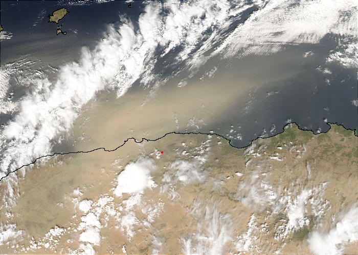 Dust storm off Algeria - related image preview
