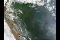 Fires in Peru and Brazil