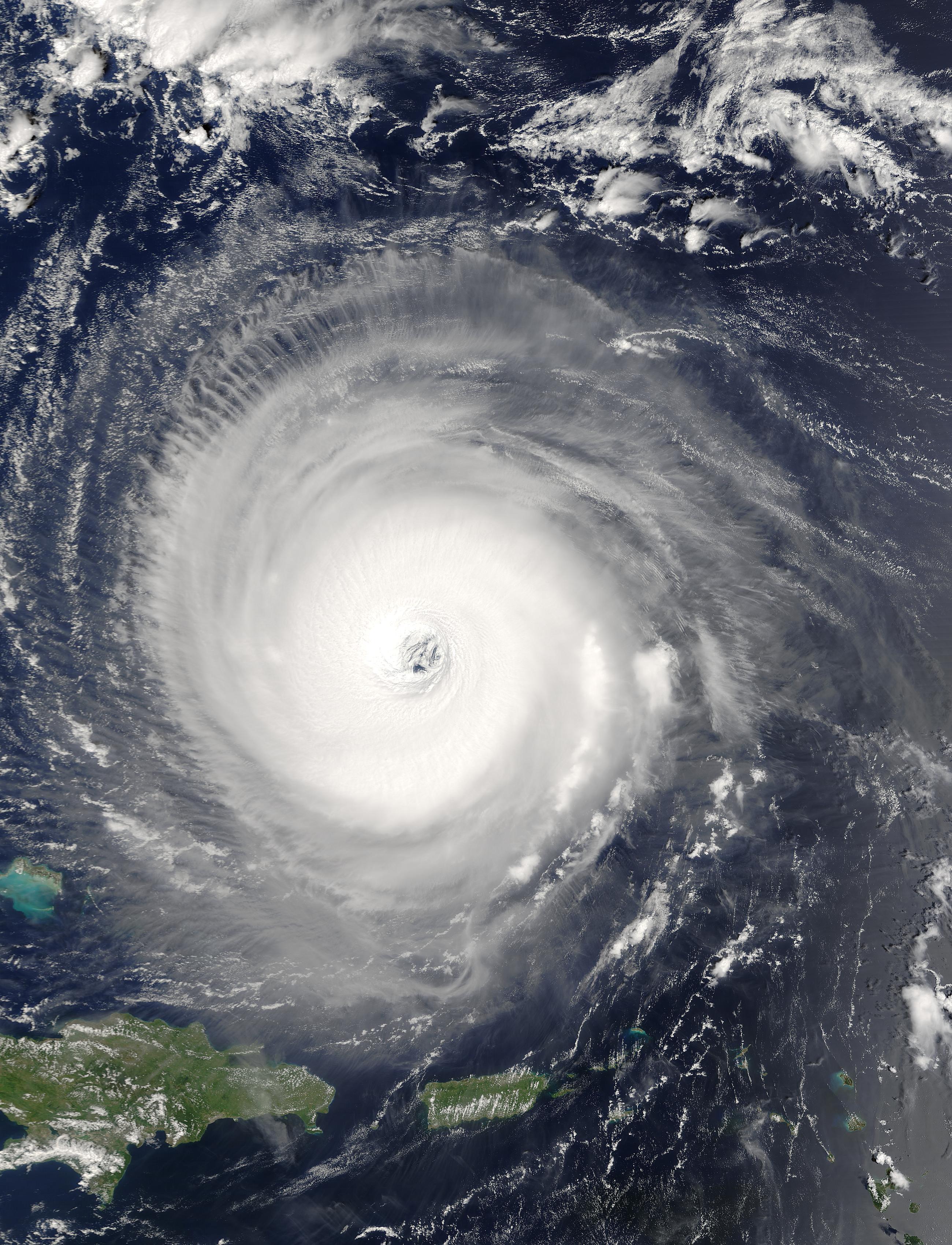 nasa visible earth: hurricane isabel north of puerto rico