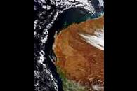 Cloud ring off Australian West Coast