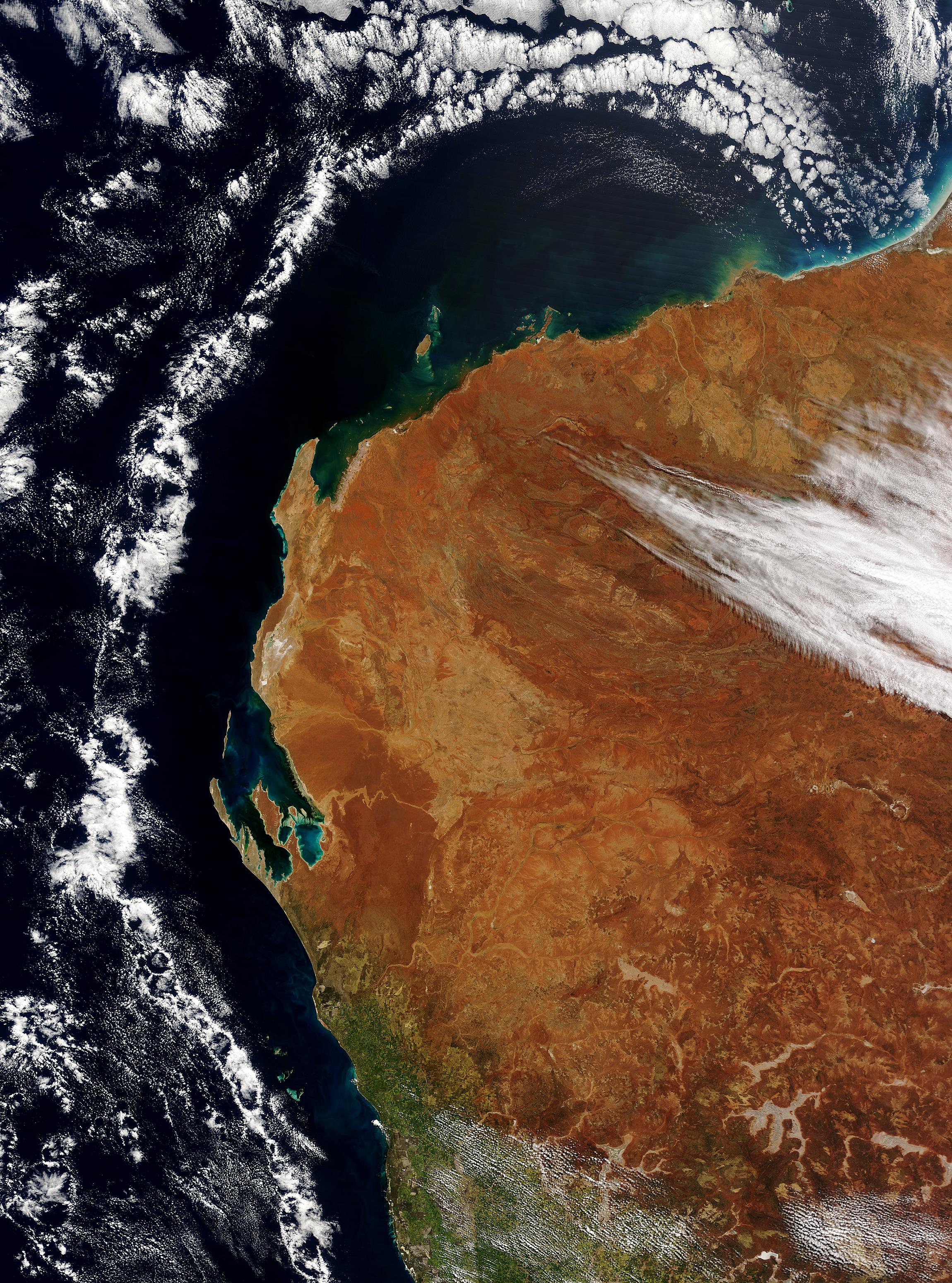 Cloud ring off Australian West Coast - related image preview