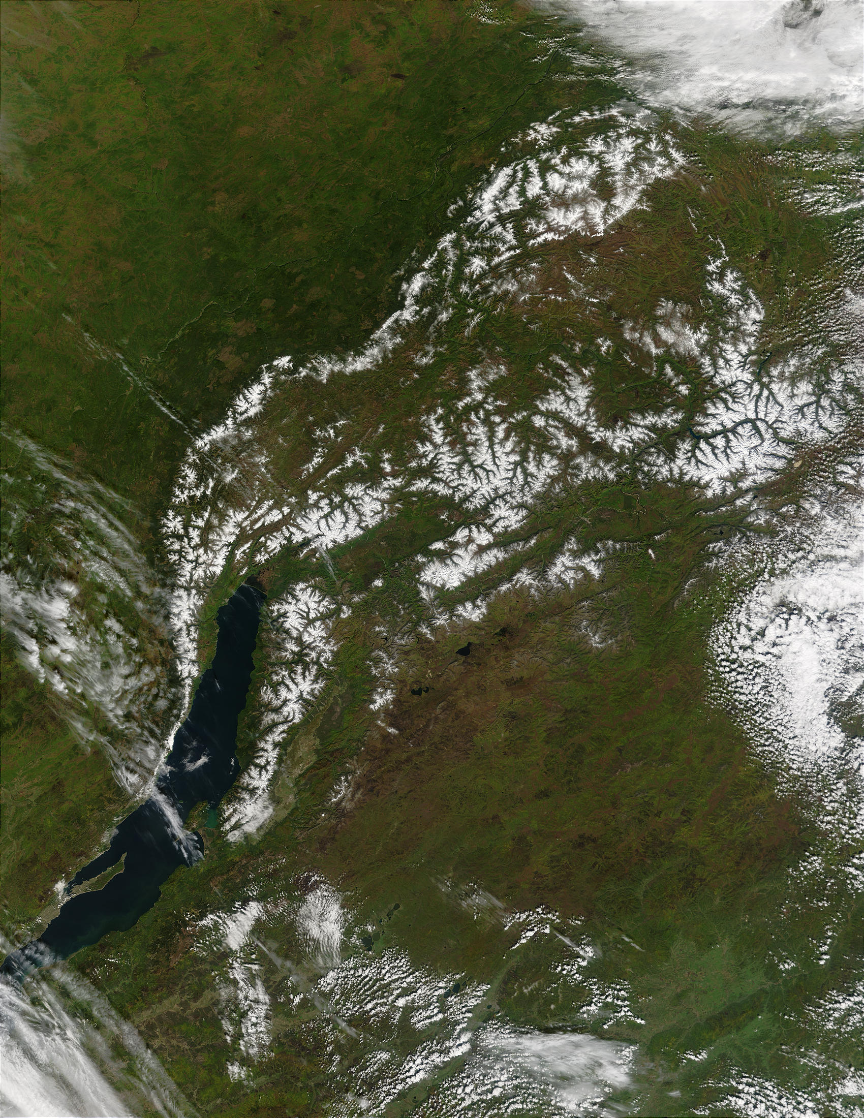 First snow near Lake Baikal, eastern Russia - related image preview
